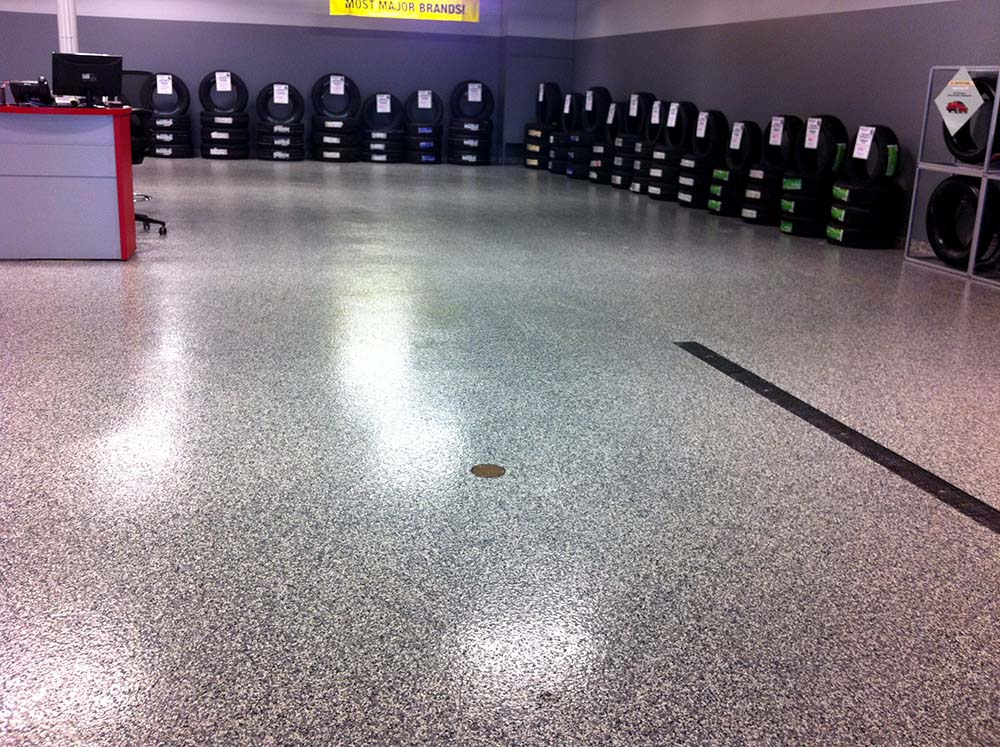Epoxy-Shell 1000 Double Flake System Black Marble