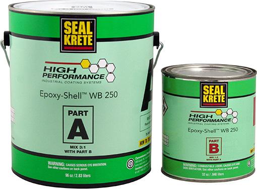 Epoxy Seal Coat : Garage floor paint epoxy seal krete wb w clear