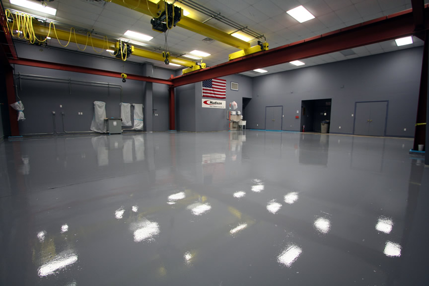 Epoxy-Shell 1000 Tinted Slate Gray.  Floor by RSR Coatings