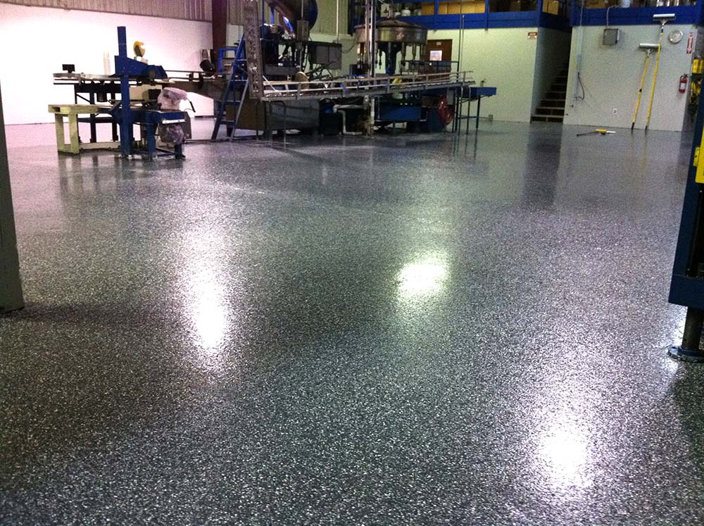 Epoxy-Shell 1000 Charcoal Gray with Black Marble Flakes