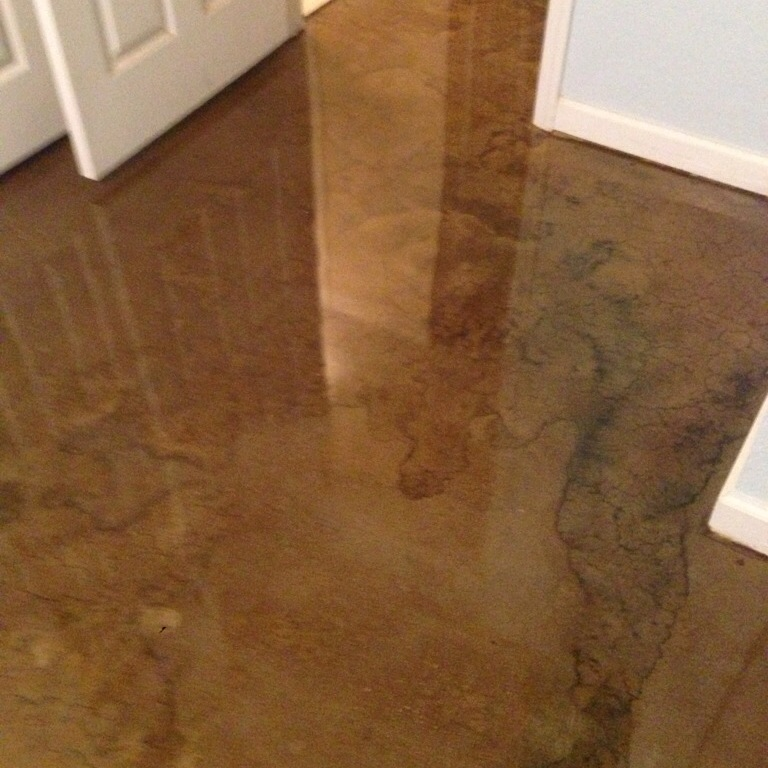 Dura-Shell over stain - RL Surfacing