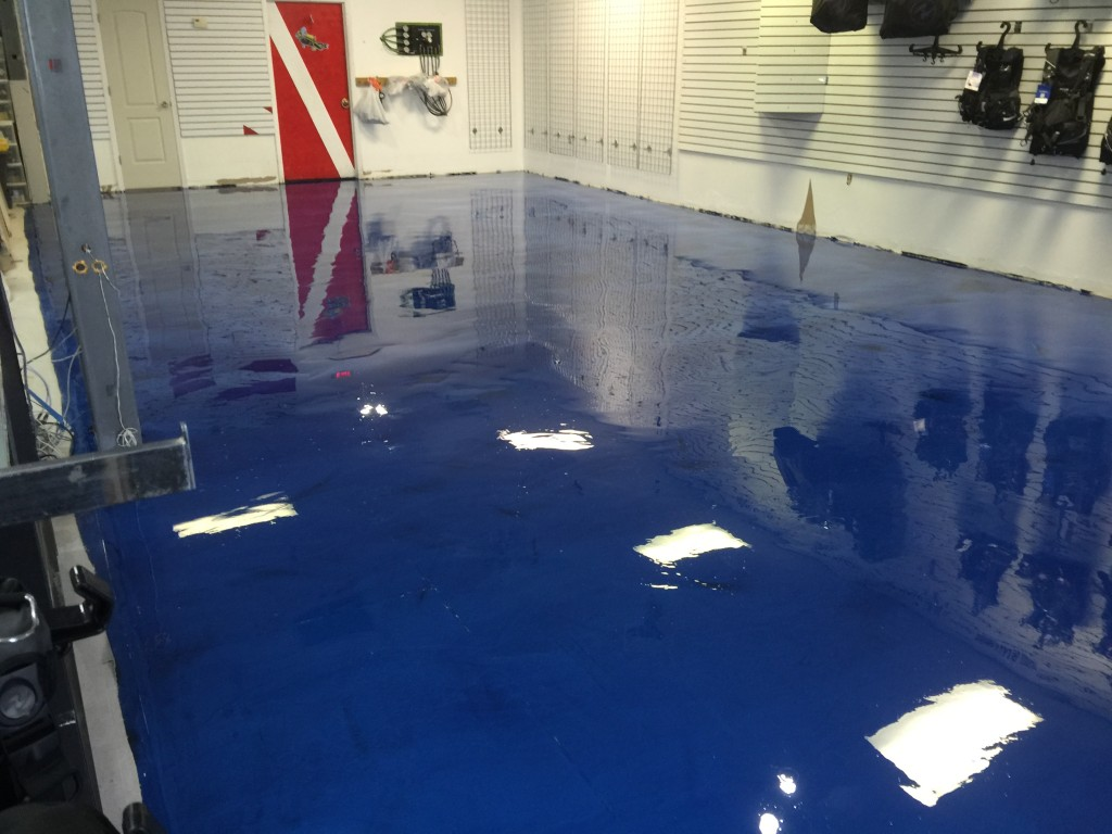 Epoxy-Shell 1000 - Ocean Blue - Red Eye Concrete