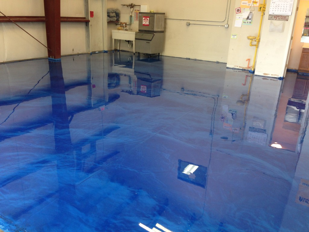 Epoxy metallic flooring systems seal krete high for Floor to the floor