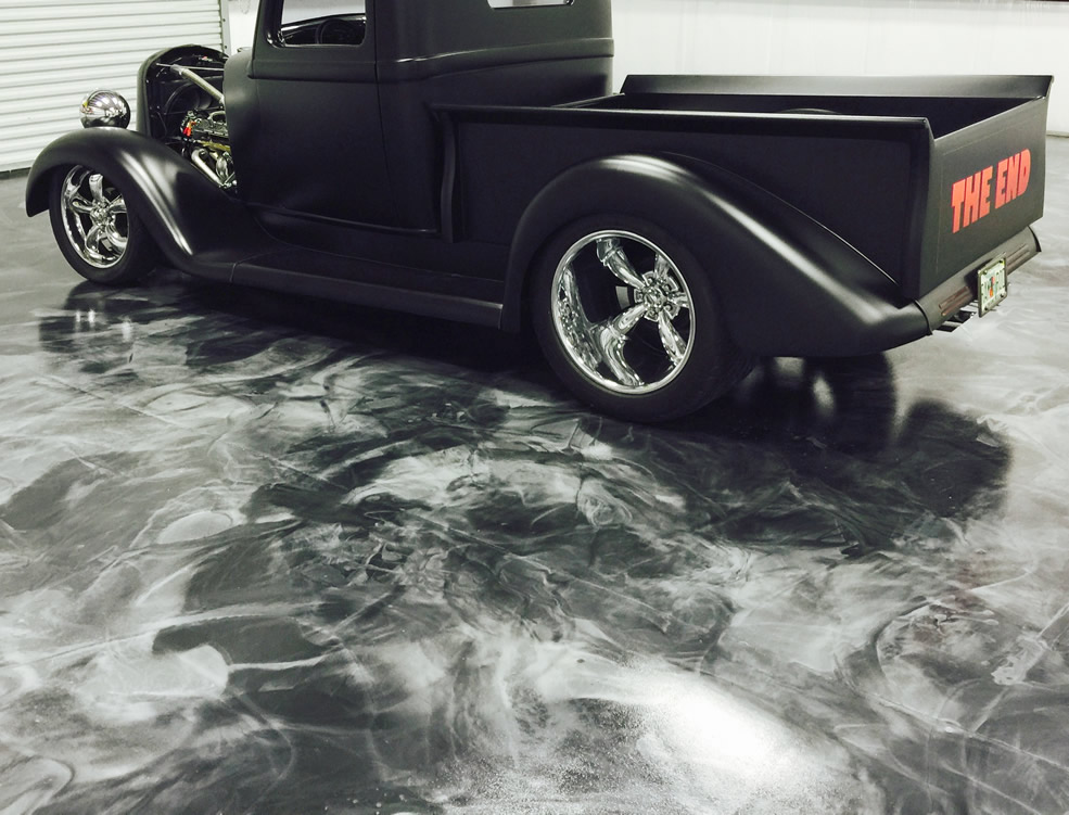 Metallic Epoxy - Floor by Red Eye Concrete