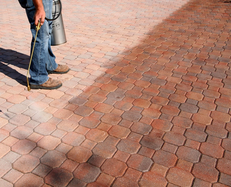Paver-Shell applied over concrete pavers