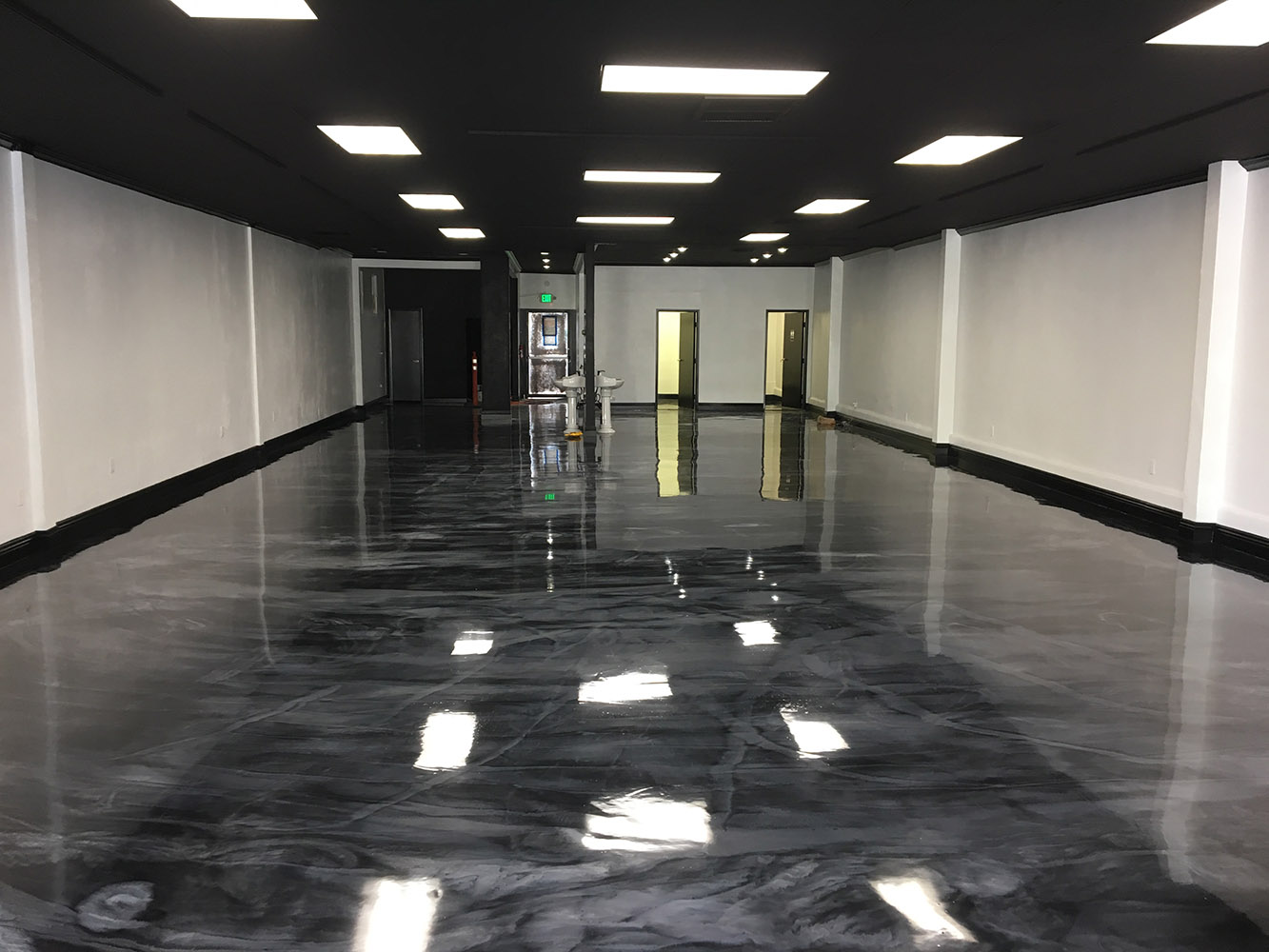seal krete floor epoxy creates artistic vibe for tattoo
