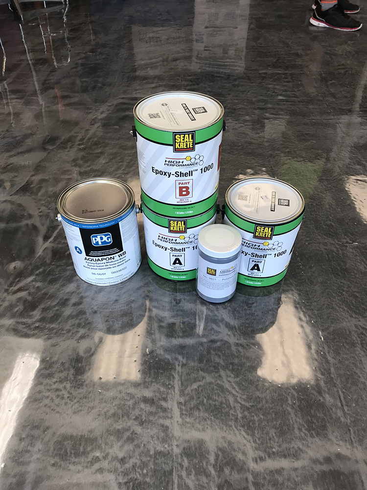 Floor At Busy Paint Store Gets Quick Turnaround Seal