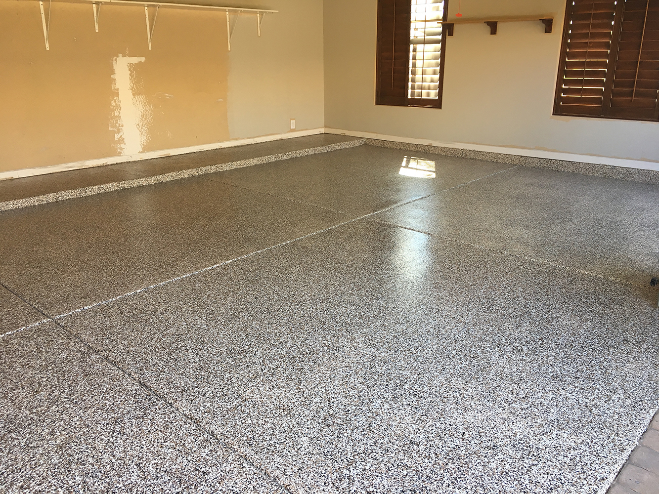 Custom Home Gets Gorgeous New Garage Floor Seal Krete